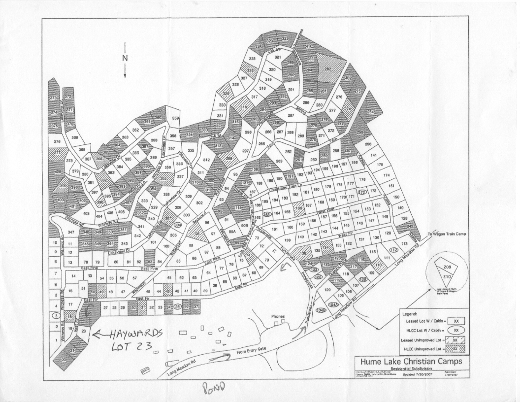 Where To Find Gas >> Lot 23 Map – Haywards Hume Cabin